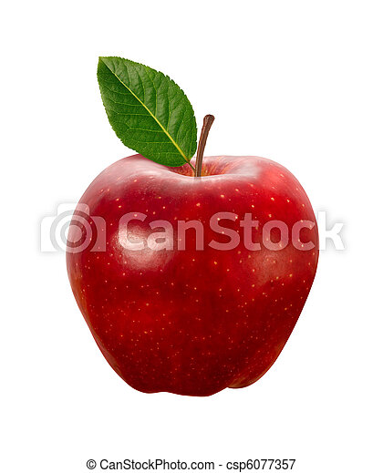 Red Apple isolated with - csp6077357