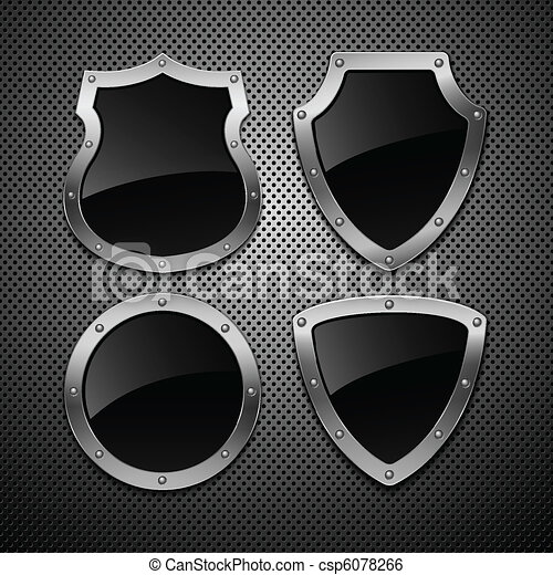 Set of vector shields. Vector illustration. Eps 10 - csp6078266