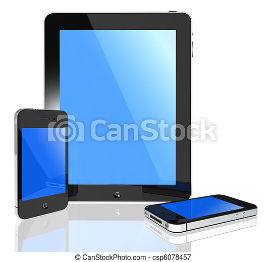 Modern touch screen -i pad and phone - csp6078457