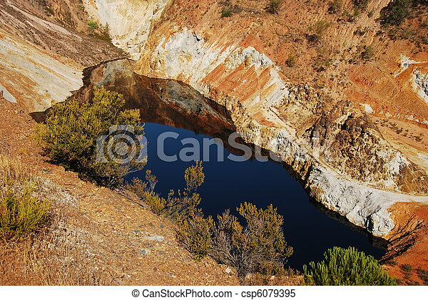 Red lake, acid mine drainage - csp6079395