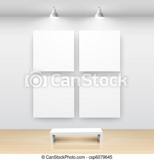 Gallery Interior with empty - csp6079645