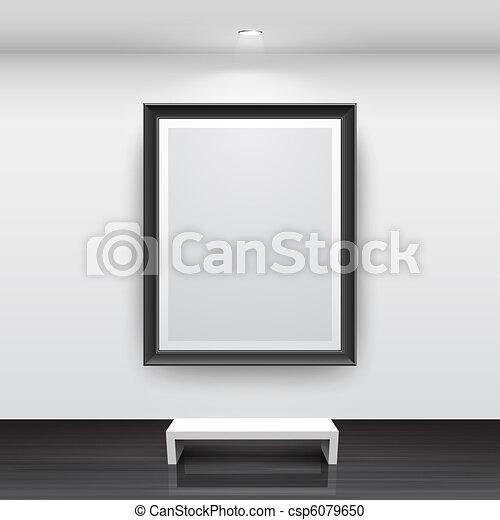 Gallery Interior with empty - csp6079650