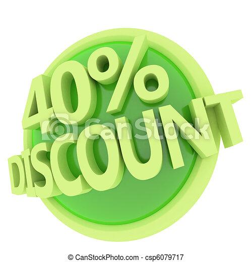 discount button - csp6079717