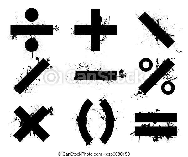 math symbols - csp6080150