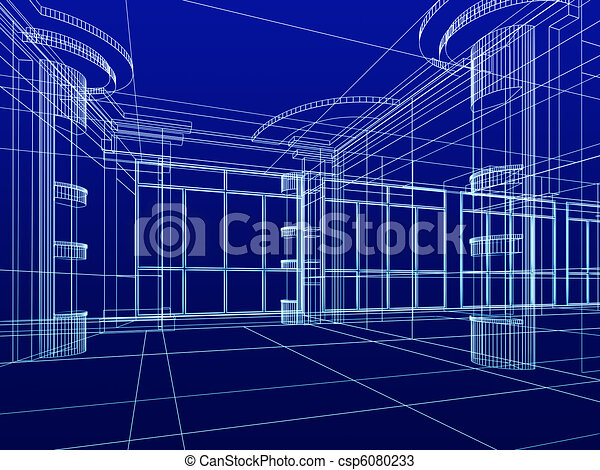 architectural abstract sketch - csp6080233