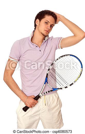 playing tennis - csp6080573