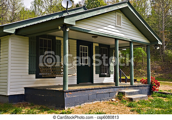 Stock Photos of Small House Front Porch - Front porch area ...
