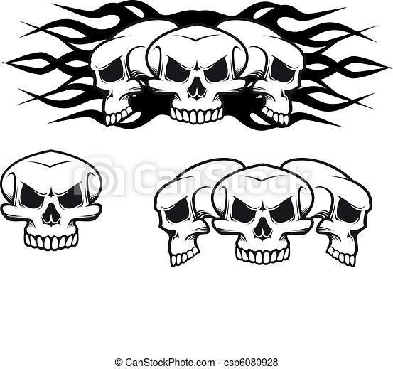 Skulls tattoo - csp6080928