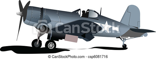 Old military combat. Plane. Air fo - csp6081716
