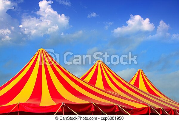 Circus tent red orange and yellow stripped pattern - csp6081950