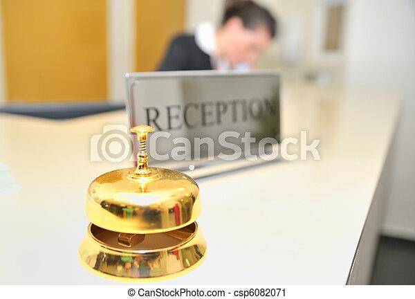 Hotel reception  - csp6082071