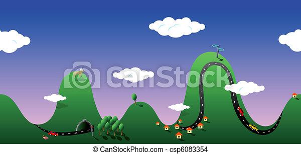 Seamless outdoors view - csp6083354