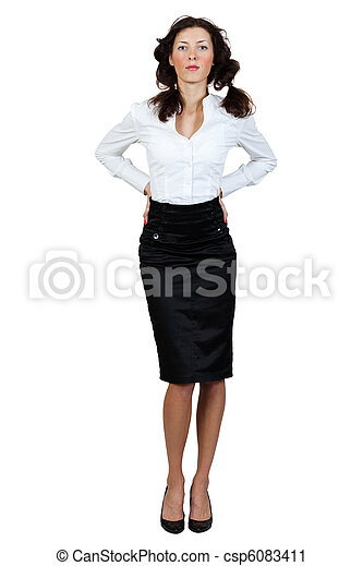 girl in a blouse and skirt - csp6083411