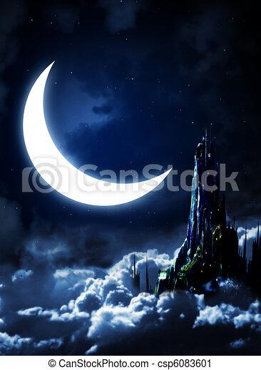 Night fairy-tale - csp6083601