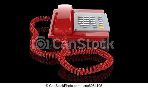 Emergency red phone - csp6084195