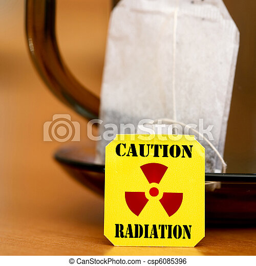 Warning Radiation - csp6085396