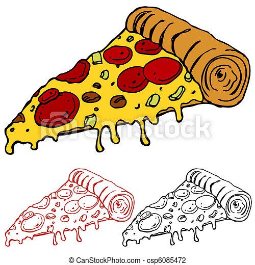 Juicy Slice of Pizza - csp6085472