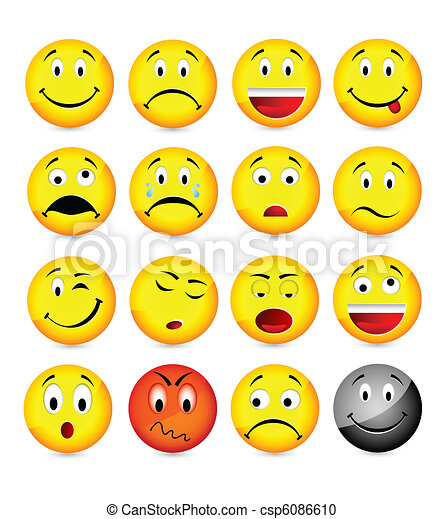 yellow smileys  - csp6086610