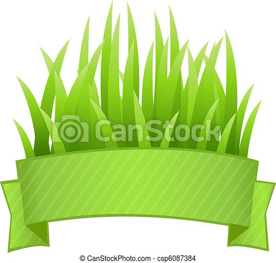 Grass Banner - csp6087384