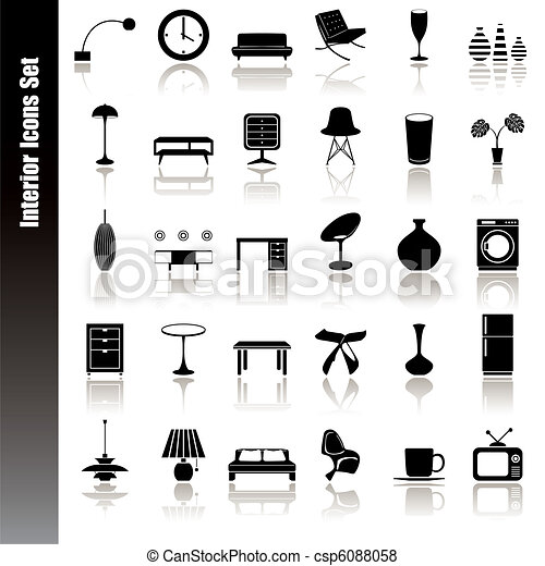 Interior icons set - csp6088058