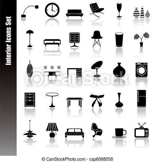 Interior icons set - csp6088058