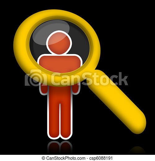 Researching Person - csp6088191