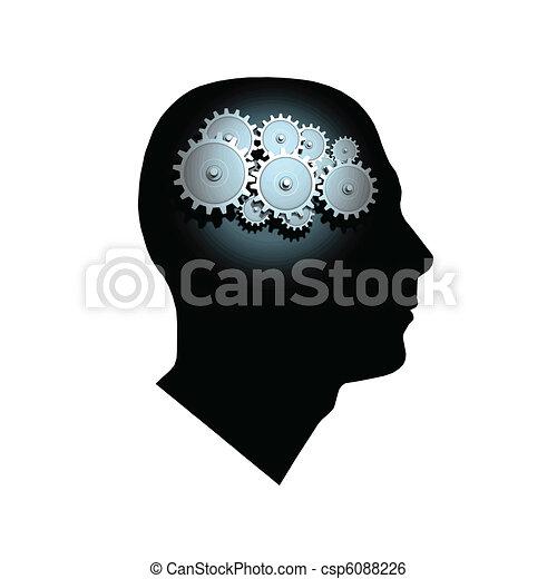 Brain Gears - csp6088226