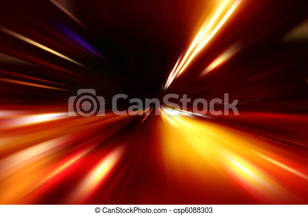 abstract acceleration speed motion on night road - csp6088303