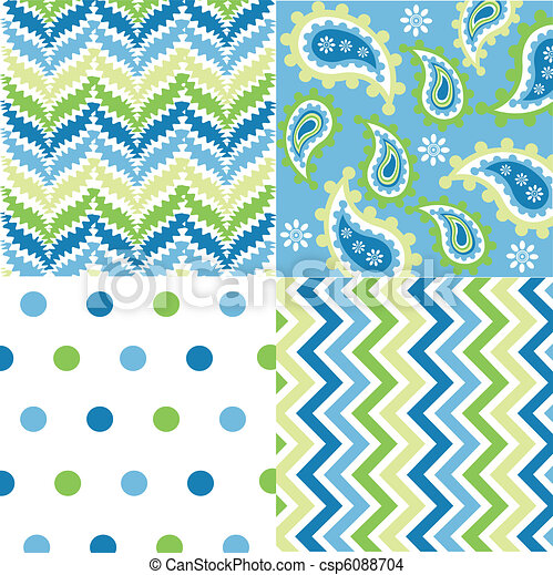 seamless patterns with fabric textu - csp6088704