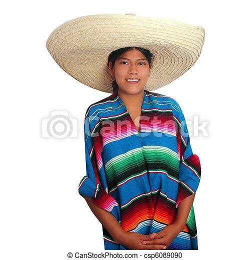 ラテン語, メキシコ人, ヒスパニック, ソンブレロ, ポンチョ, 女 ... ラテン語, メキ