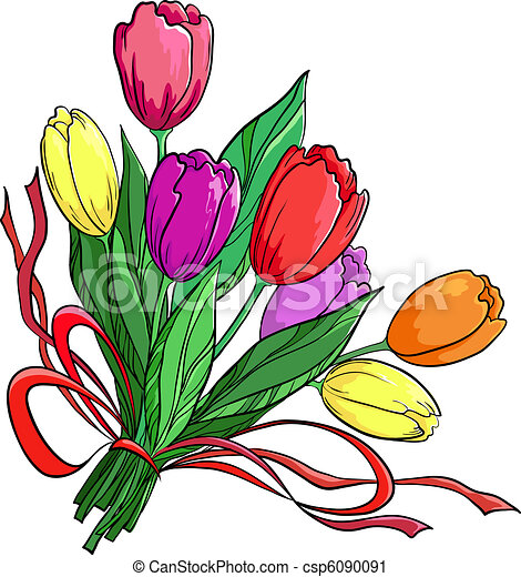 Flower, tulips, bouquet - csp6090091