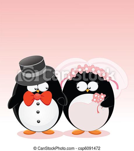 Wedding Penguins - csp6091472