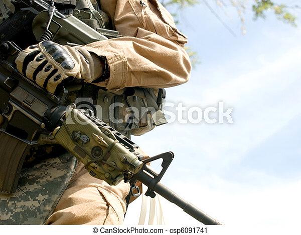 US soldier - csp6091741