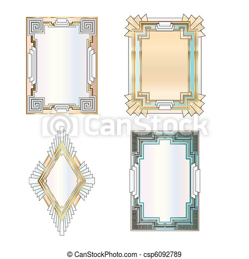 Art Deco Borders - csp6092789
