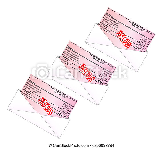 Credit Card Bill - csp6092794