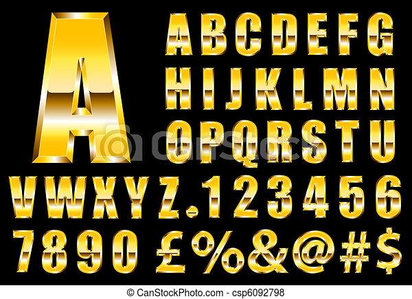 Gold Font - csp6092798