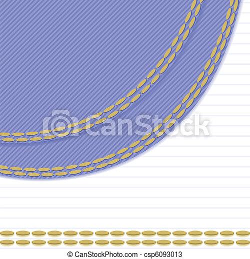 White-blue background with stitch - csp6093013