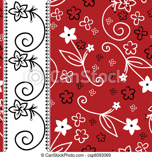 Red background with a white vertical stripe - csp6093069