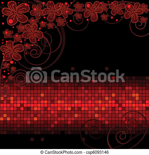 flowers over a shimmering stripe - csp6093146