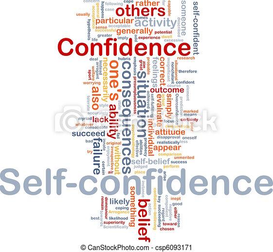 Self-confidence is bone background concept - csp6093171
