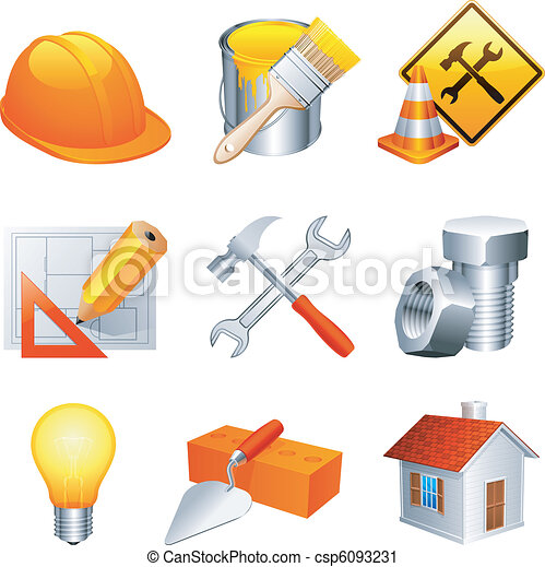 Construction icons. - csp6093231