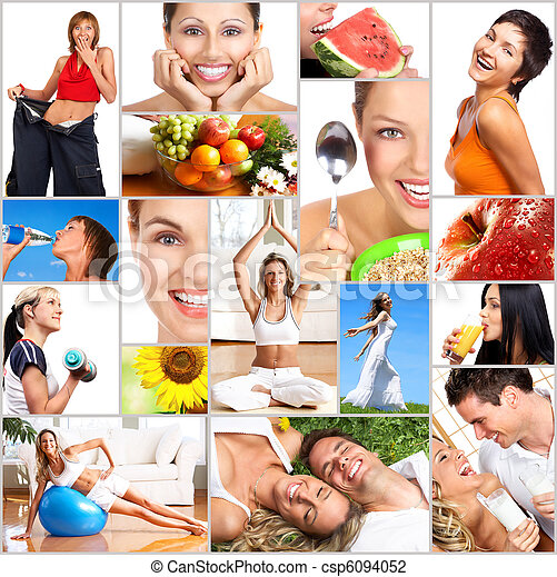 saudável, estilo vida - csp6094052