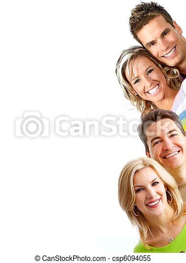 Sourire, gens - csp6094055