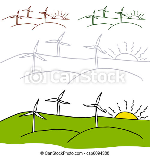 Wind Turbines - csp6094388