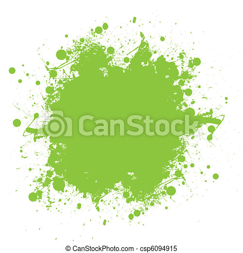 Green ink splatter - csp6094915