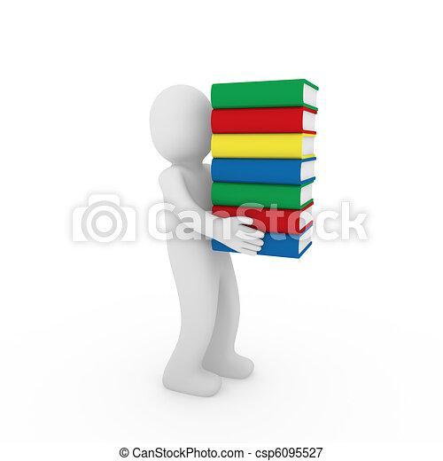 3d human book - csp6095527