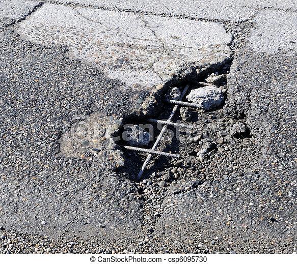 Road Damage - csp6095730
