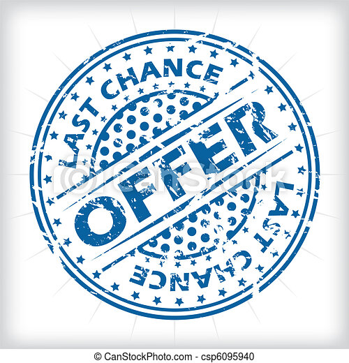 Last chance offer seal design - csp6095940