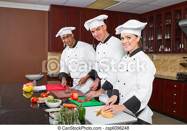 professional chefs cooking - csp6096248