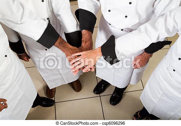 Stock de imagenes de profesional chef trabajo en equipo for Equipo para chef